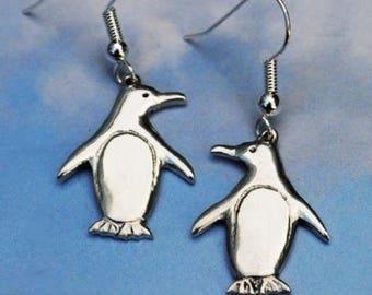 Penguin Pewter Earrings