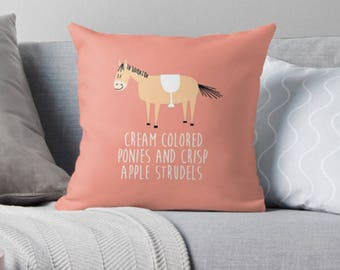 Sound of music pillow - pony horse pillow - pillow decorative square throw pillow cushion cover
