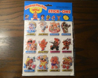 1986 Garbage Pail Kids Puffy Stickers Stick-Ons In Original Packaging GPK