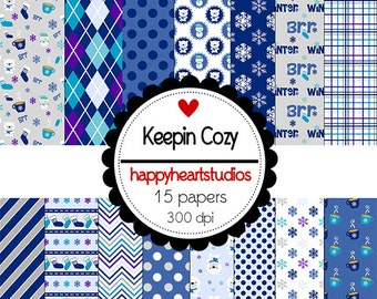 Digital Scrapbooking KeepinCozy-INSTANT DOWNLOAD
