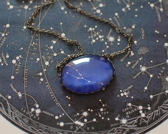 Taurus Zodiac Necklace. Taurus Constellation Necklace. Taurus Necklace. Taurus Star Sign Necklace. Zodiac Jewelry. Astronomy.