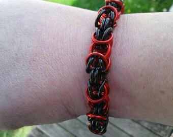 Byzantine Bracelet- Black and Red