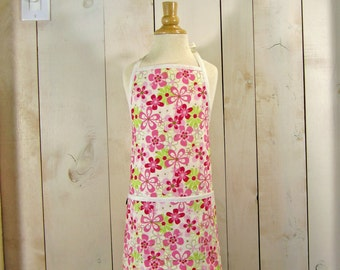 Daisy Field Young Adult Apron - Reversible Apron by Lucky Ducky Designs