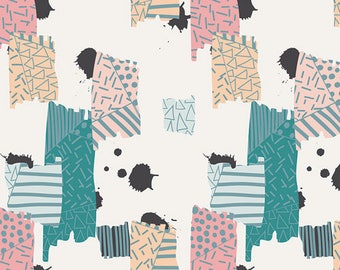 Art Gallery Fabrics, Chalk Paint, Untaped Splatter Frost,Cotton Quilting Fabric