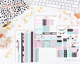 Let's Get Away HORIZONTAL Weekly Kit // 130+ Matte Planner Stickers // Perfect for your Erin Condren Life Planner // WKH1030