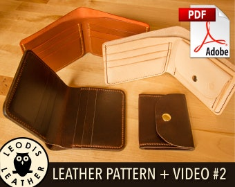 Build Along Leather Pattern 2: Coin and Card Wallets