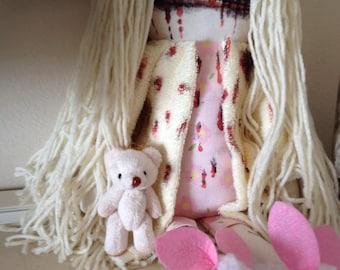 Zombie/Teddy Bear Girl-Summer - Inspired by TWD - Creepy n Cute Zombie Doll (D&P)