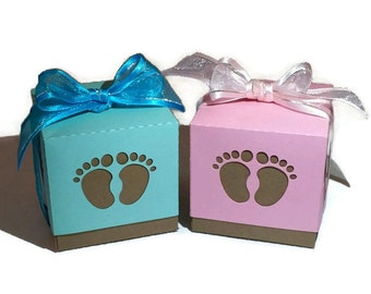 Baby Shower Favor Boxes, SKU# BXBS0151, Baby Feet Favor Boxes, Party Favors, Favor Boxes
