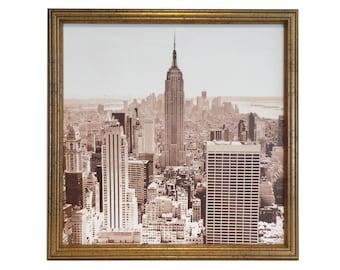 Magnet Board - Dry Erase Board - Framed Bulletin Board - Magnetic Memo Board - Organization Board - New York City Design - Magnets Included