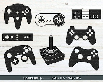 Game Controller SVG, Gamer SVG File Vector for Silhouette Cricut Cutting Machine Design Download Print
