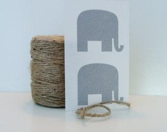 Elephant Stickers Envelope seals Labels Grey 36