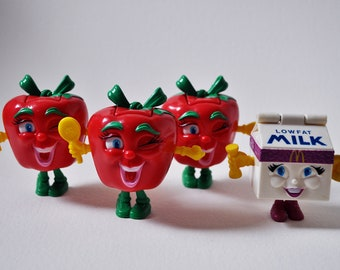 Happy Meal Toys // 4 Total // McDonalds Transformers Toys // Apple Milk 1993