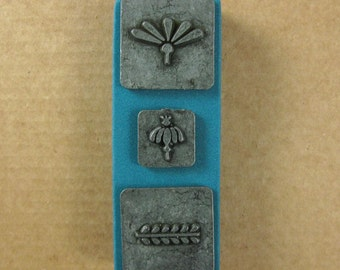Ornamental Ornamental Stamps by Melody Ross / Set of 3 / Use On Chipboard And Leather