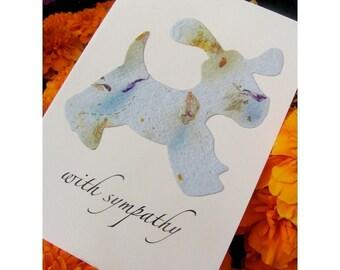 Pet Sympathy Card Plantable - Dog or Cat - Forget Me Not Flower Seeds