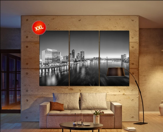 Jacksonville  canvas skyline Jacksonville wall decoration Jacksonville canvas art Jacksonville  wall decor canvas art