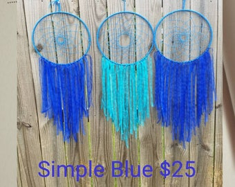Blue Dream Catcher - Large 12 In Ring