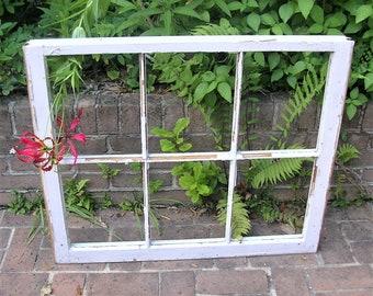 Antique Vintage Six Pane Window Frame