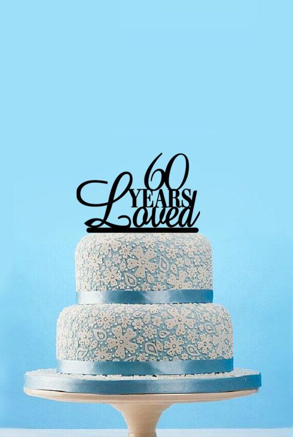 60 ans aim de gteau gteau de mariage 60e anniversaire cake topper 60e anniversaire de gteau acrylique unique cake topper mariage - Gateau Anniversaire 60 Ans