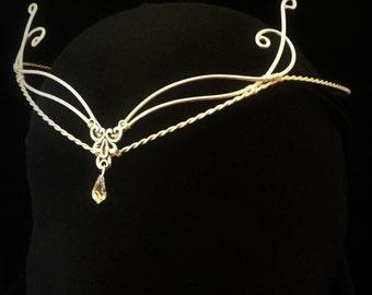 Celtic Handfasting wedding elven tiara circlet pagan Swarovski elements