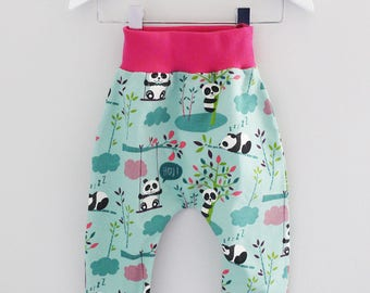 harem pants children and babies little pandas mint