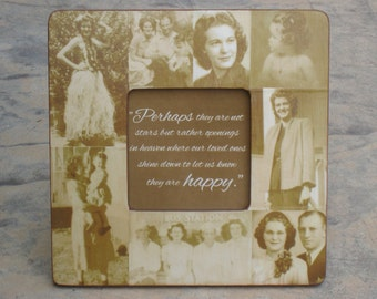 """Memorial Picture Frame, Personalized Picture Frame, Custom Photo Collage Frame, Unique Christmas Gift, In Memory Of, 8"""" x 8"""" Frame"""