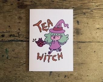 Tea Witch Card