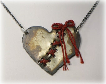 Broken Heart Necklace, Rustic