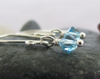 Swarovski Aquamarine Blue Sweet 16 Earrings : March