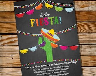 Mexican Fiesta Birthday Invitation - 16th 30th 40th 50th 60th birthday invitation - Instant Download and Edit with Adobe Reader