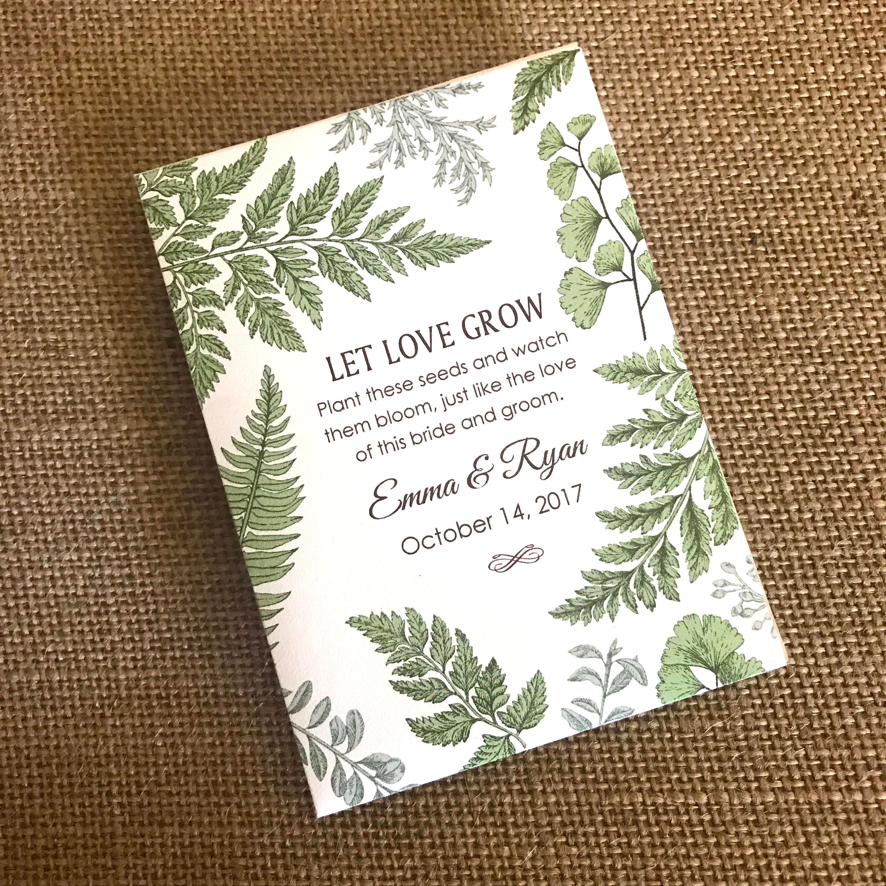 Seed Packets Wedding Favors Diy DIY Seed Packet Wedding Favors The ...