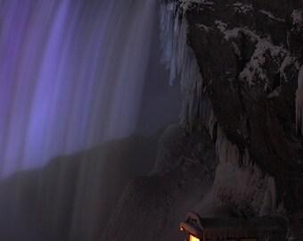 Travel Photography, Niagara Falls Photography, Waterfall Photos, Night Photography, Landscape Photography, Niagara Falls, Free shipping