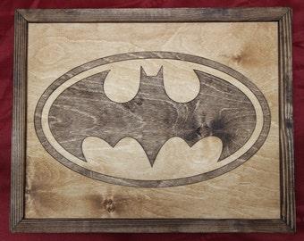 Batman Wooden Inlay Wall Art