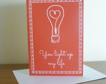 Light Up My Life | Valentines Day Card