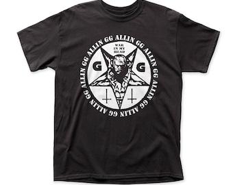 GG Allin War In My Head 18/1 Traditional Fit Cotton Men's Tee (GG02) Black