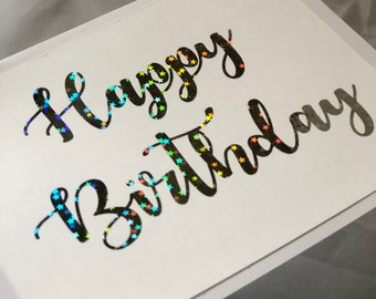 Birthday star greeting card birthday card Unique Card Texas Gift for her handmade birthday gift gift gift for him calligraphy