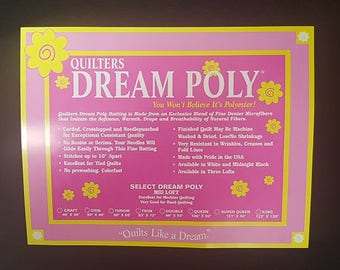 Batting Quilters Dream Midnight Black Poly Select Double Size Quilt Batt Quilting Crafting Sewing