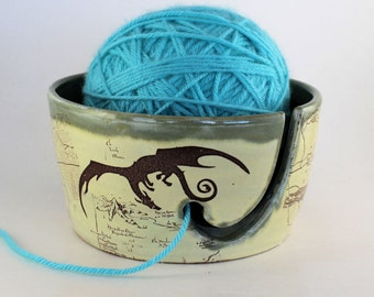 MADE TO ORDER - Hobbit Ceramic Yarn Bowl