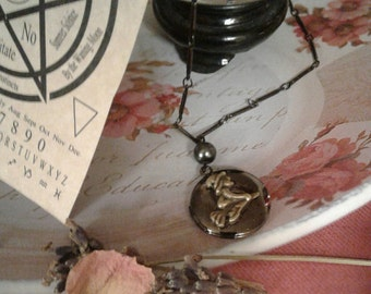 Flying Witch Locket Necklace