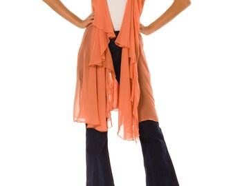 1900s Vintage Silk Vest  Size: S/M
