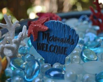 Welcome Mermaid Sign