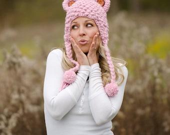 Cute Bear Hat Crochet Pattern PDF