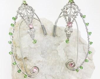 Elven Ear Cuffs - Elven Ears - Elf Ears - Fairy Ear Cuffs - Fairy Ears - Cosplay Ears - Fairy Costume - Elf Costume - Steampunk Ear Cuffs