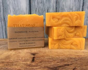 Carrot and Goat's Milk & Lavender Soap, Handmade soap, Natural Soap, That Soap, Lavender Soap