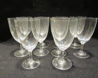 Crystal Cordial  Glasses, Crystal Stemware, Barware, Set of 10    (1533)