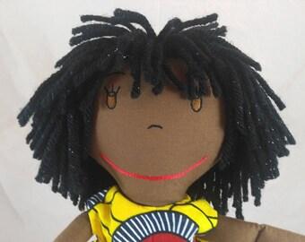 Cloth Rag Doll, Birthday or Baby Shower Gift, Doll for Baby Girls, Soft Dolls, Embroidered Doll, Handmade Doll, Custom Dolls, Doll for Gift