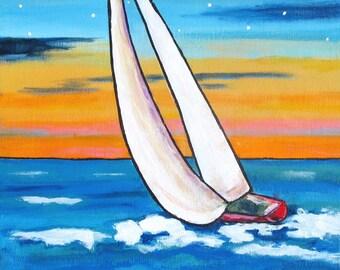 sailing sailboat Nova Scotia PRINT Shelagh Duffett ocean seascape