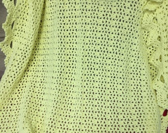 Crocheted Yellow Baby Afghan