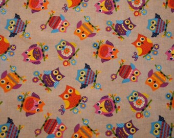 Happy colorful owls