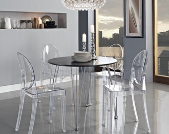 Clear Chairs (Choice of 1, 2 or 4) Glass Furniture, Acrylic Furniture, Vanity Chair, Modern Design Dining Chairs, Lucite Chair, Ghost Chair