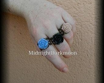 """Rings """"eternal roses"""""""